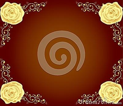 Luxury golden rose frame