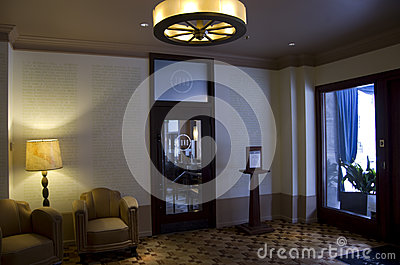 Luxury historic hotel lobby Editorial Photo