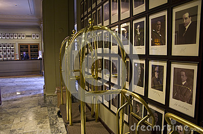 Luxury historic hotel lobby Editorial Stock Photo