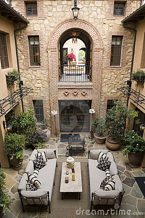Luxury home atrium