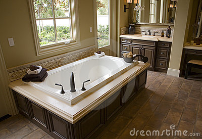 Luxury home bathroom.