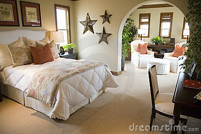 Luxury home bedroom.