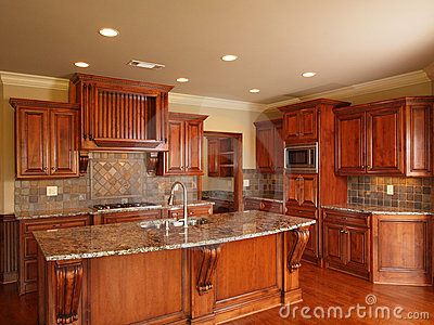 Luxury Home dark wood kitchen