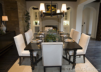 Luxury Home Dining Room Royalty Free Stock Photos Image