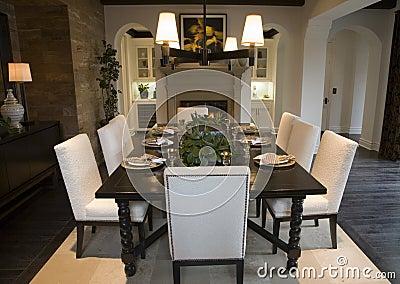 Luxury home dining room.