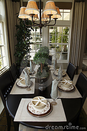 Free Luxury Home Dining Table. Stock Photo - 9616200