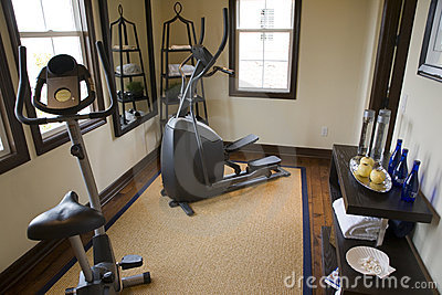 Luxury home gym.