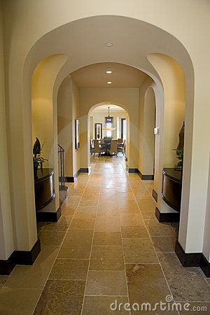 Luxury home hallway.
