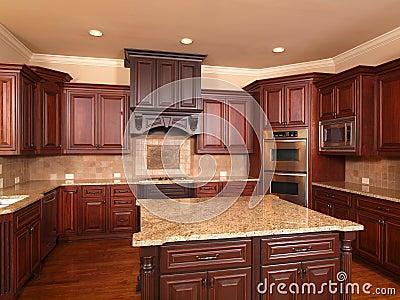 Luxury Home Kitchen front center island