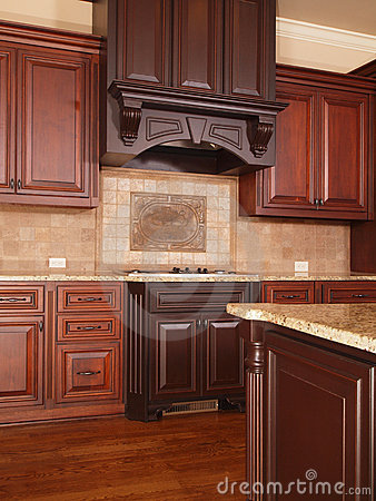 Free Luxury Home Kitchen Two Tone Cabinets Stock Images - 11053524