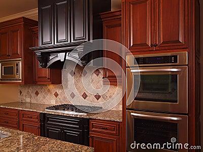 Luxury Home kitchen two tone wood