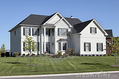 Luxury home with two story column