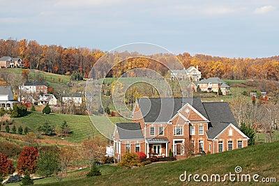 Luxury Homes: upscale houses, fall season