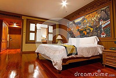 Luxury hotel bedroom Editorial Photo