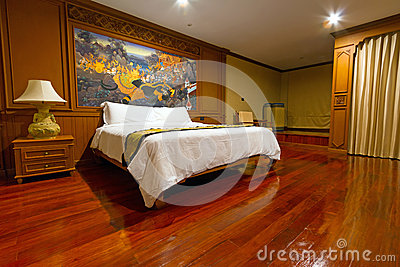 Luxury hotel bedroom Editorial Stock Photo
