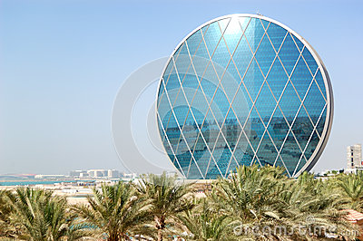 The luxury hotel and circular building Editorial Stock Image