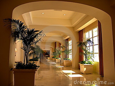 Luxury Hotel Entrance Corridor Editorial Image