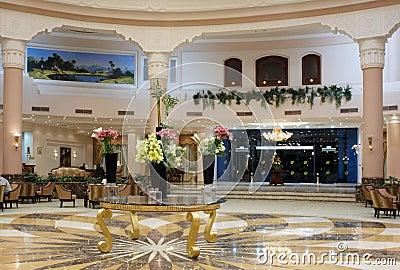 Luxury hotel hall