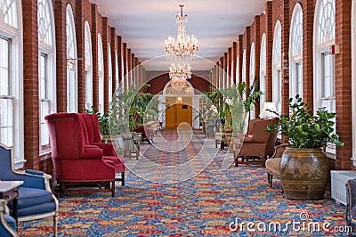 Luxury hotel hallway