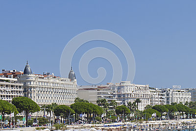 Luxury hotel InterContinental Carlton Cannes Editorial Stock Photo