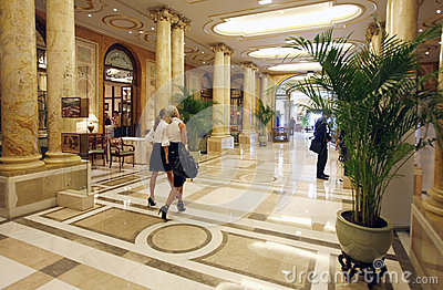 Luxury hotel lobby Editorial Stock Image