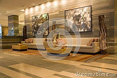Luxury hotel lobby Editorial Photography