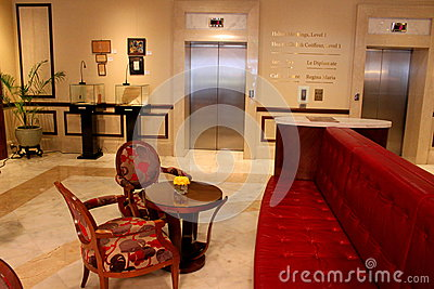 Luxury hotel lobby Editorial Stock Photo