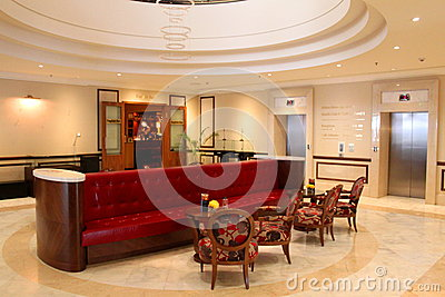 Luxury hotel lobby Editorial Image