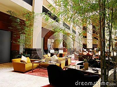Luxury hotel lobby restaurant