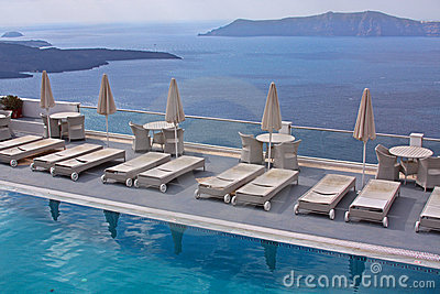 Luxury hotel - pool and sea
