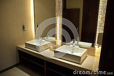 Luxury Hotel Public Toilet Royalty Free Stock Photography
