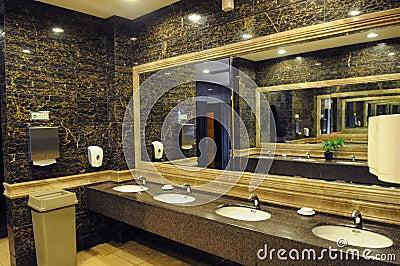 Luxury Hotel Public Toilet Royalty Free Stock Photos