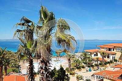 The luxury hotel recreation area