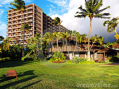 Luxury hotel in tropical setting