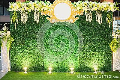 Luxury Indoors Wedding Stage Decorate Stock Photo Image