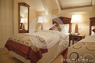 luxury interior of modern bedroom