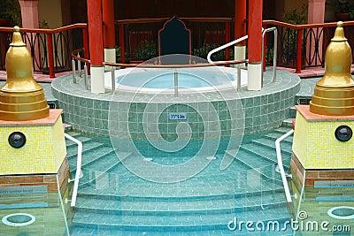 Luxury jacuzzi spa pool