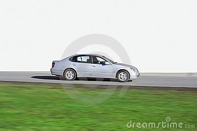 Luxury japanese sedan speed isolated