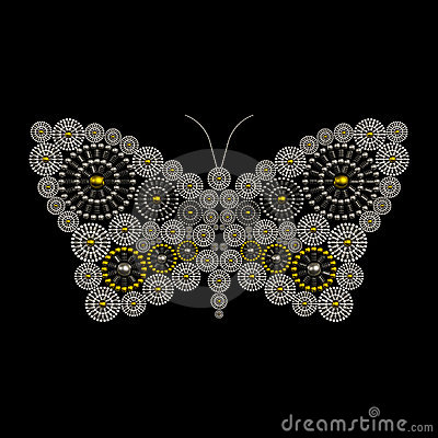 Luxury jewelry butterfly ornament design