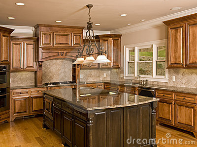Luxury Kitchen with Large Center Island
