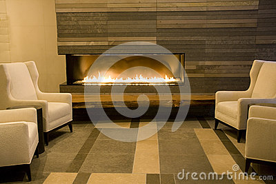 Luxury living room with fireplace