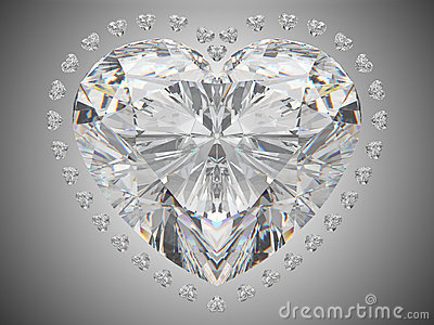 Luxury love - large heart cut diamond