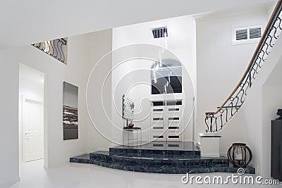 Luxury mansion entrance
