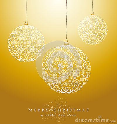 Free Luxury Merry Christmas Baubles Background EPS10 Vector File. Royalty Free Stock Images - 34460129