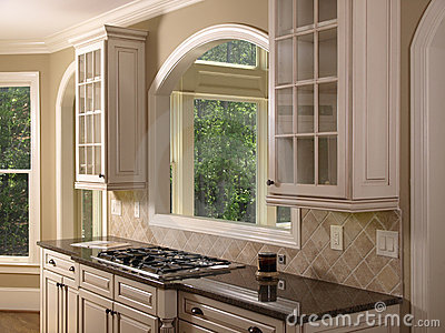 Luxury Model Home Kitchen Opening Royalty Free Stock Photo Image 5348465
