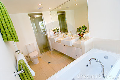 A luxury modern bathroom