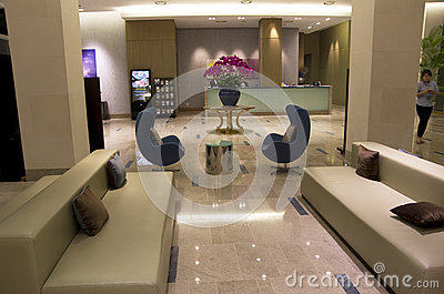 modern furniture in luxury hotel lobby editorial photo image 35287091