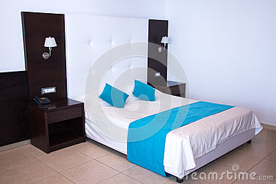 Luxury Modern White Bedroom In Hotel Stock Photo Image 43702769