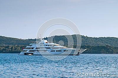 Luxury modern yacht