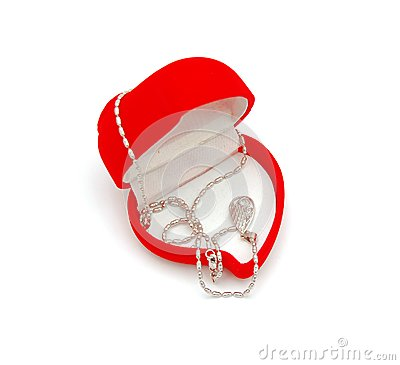 Luxury necklace in red box